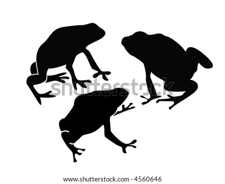 A collection of dart frogs - stock vector