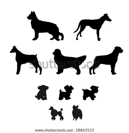 Poodle Head Silhouette A collection of dog silhouette