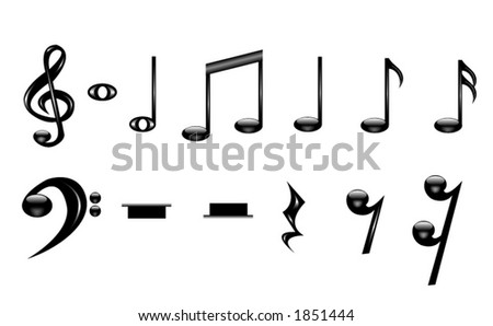 A collection of music notes. - stock vector