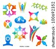 A Collection of People Icons and Symbols, vector designs. - stock photo