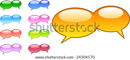 A Collection of Vector Based Speech Bubbles - stock vector