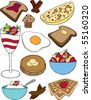 A collection of vector breakfast items. - stock vector