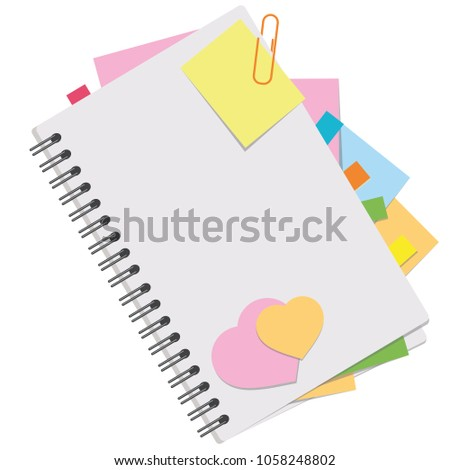 Colored Picture Open Notebook Blank Sheets Stock Photo (Photo ...
