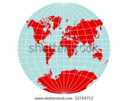 Colored vector map world map grid stock vector 2018 22769713 a colored vector map of the world with a map grid that uses the van der gumiabroncs Image collections