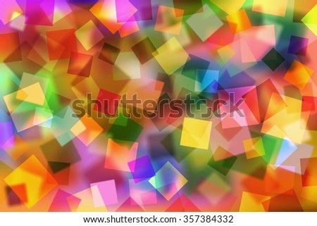 A Colorful Abstract Background with Transparent Squares - stock vector