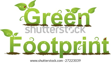 A Colourful 'Green Footprint' lllustration - stock vector
