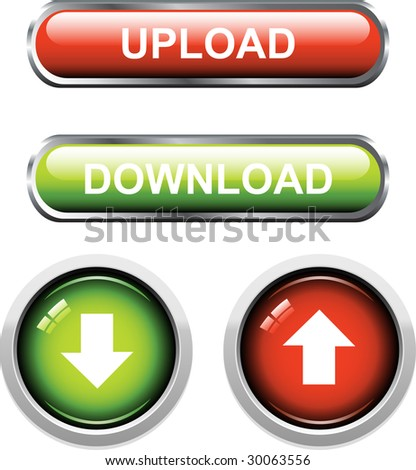 A Colourful Set of Upload / Download Buttons