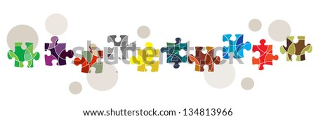 A connectivity and diversity concept banner - stock vector
