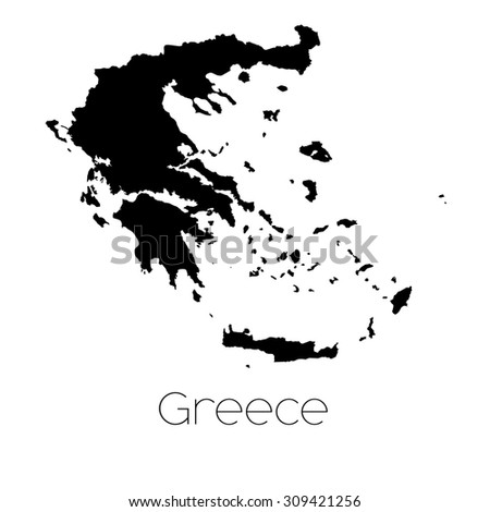 A Country Shape isolated on background of the country of Greece - stock vector