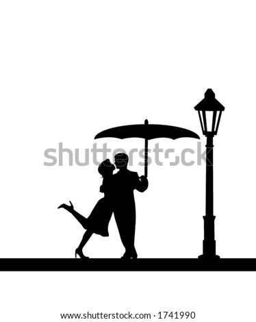 A couple in love. - stock vector