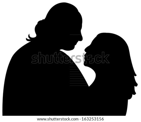 a couple silhouette vector