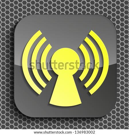 a creative icon in modern style, eps10 vector - stock vector