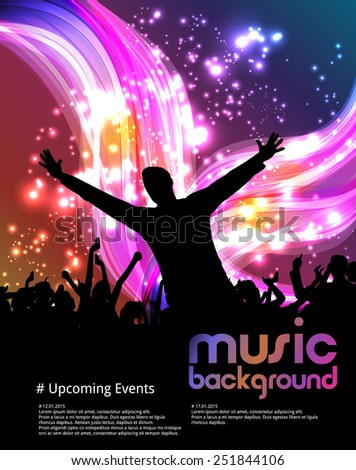 A crowd of people. Music event illustration.