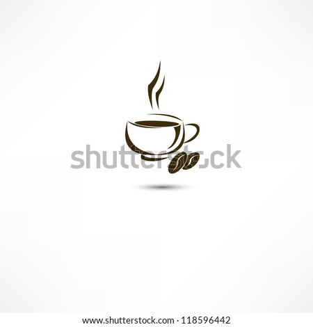 A cup of coffee icon - stock vector