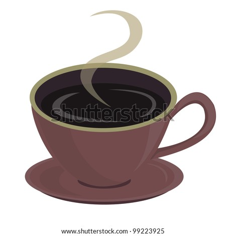A cup of coffee. Vector illustration
