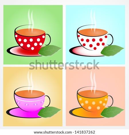 a cup of tea - stock vector