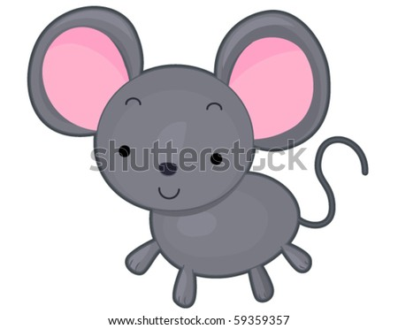 A Cute and Friendly-looking Mouse - stock vector