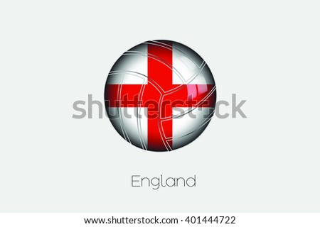 A 3D Football with a Flag Illustration of England - stock vector