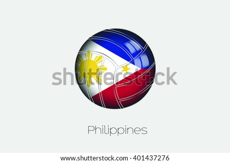 A 3D Football with a Flag Illustration of Philippines - stock vector