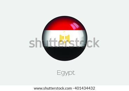 A 3D Orb with a Flag Illustration of Egypt - stock vector