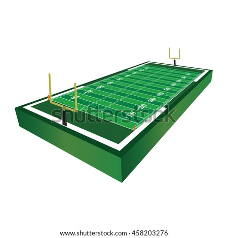 A 3D three dimensional American football field illustration. Vector EPS 10 available.