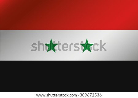 A 3D Wavy Flag Illustration of the country of  Syria - stock vector