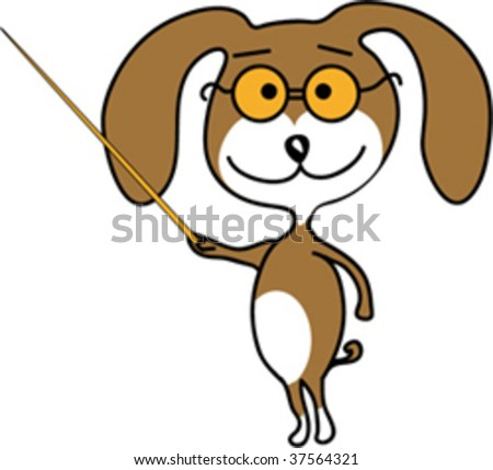 a dog pointing at
