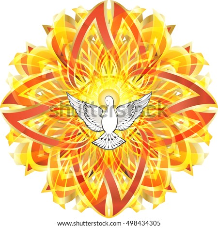 Dove Symbol Holy Spirit Celtic Style Stock Photo Photo Vector