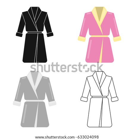 Dressinggown Long Sleeves Garment Lilac Stock Vector 633024098 ...