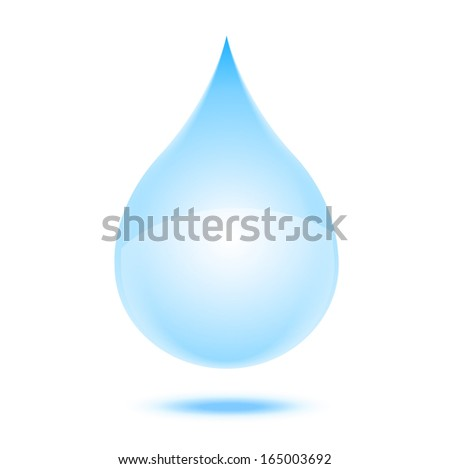 a drop of water on a white background, vector illustration