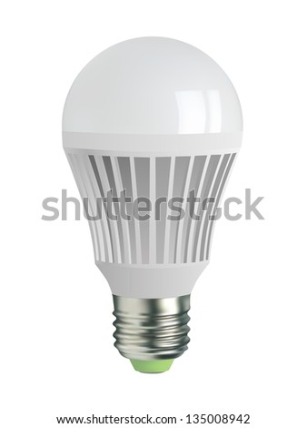 A60, E27 type light bulb, vector - stock vector
