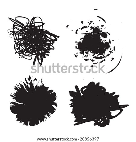A few different grunge splatter frames - fully customizable.  Insert your own text or images. - stock vector