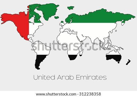 Flag Illustration Inside Shape World Map Stock Vector 312238358 ...