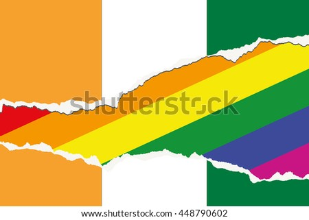 A Flag Illustration of the country of Cote DIvoire