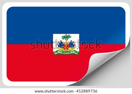 A Flag Illustration of the country of Haiti