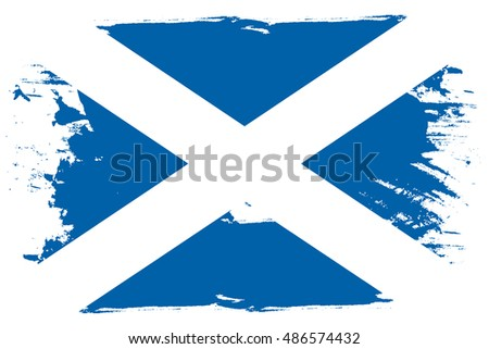 A Flag Illustration of the country of Scotland