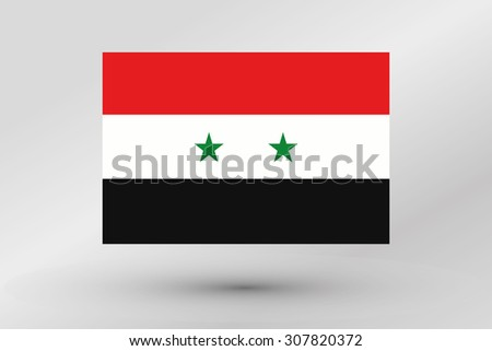 A Flag Illustration of the country of  Syria - stock vector