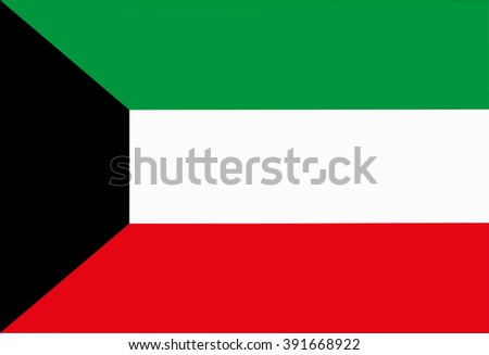 A flag of Kuwait - stock vector