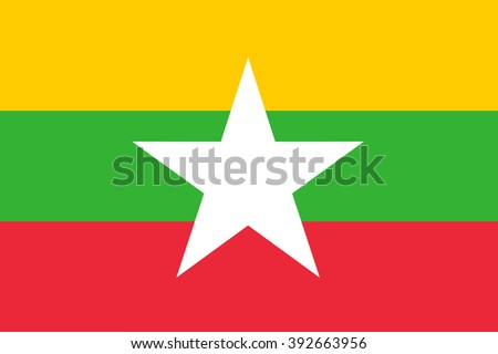 A flag of Myanmar