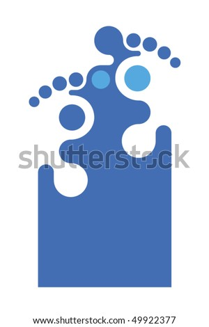 A foot related symbol to make a modern logo for a podiatrist office, foot specialized clinic, orthopedist or pedicure salon. - stock vector