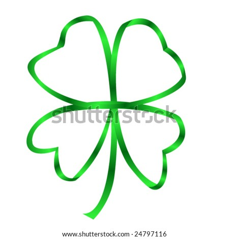a four leaf clover made with a ribbon