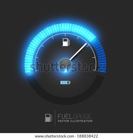 A fuel gauge, speedometer vector illustration - stock vector