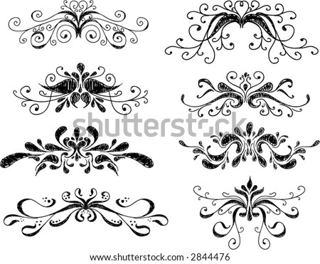 a full collection of hand-drawn ornaments (ALL VECTOR) - stock vector