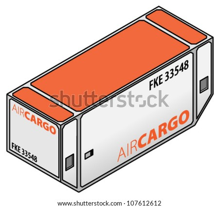 A full-width air cargo container for wide body cargo jets.