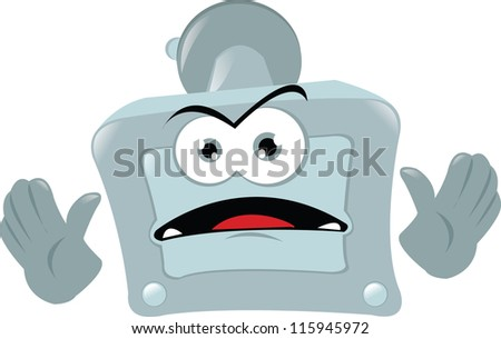 a funny angry GPS - stock vector