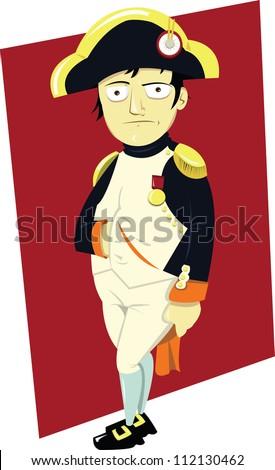 A funny portrait of Napoleon III - stock vector