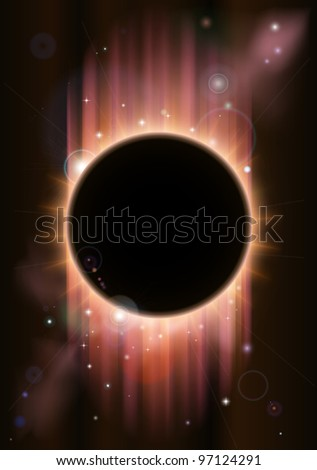 A futuristic ascience fiction eclipse background concept - stock vector