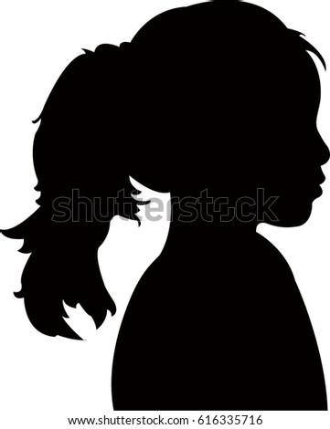 Silhouette Womans Head Waving Hair Stock Vector 181196108 ...