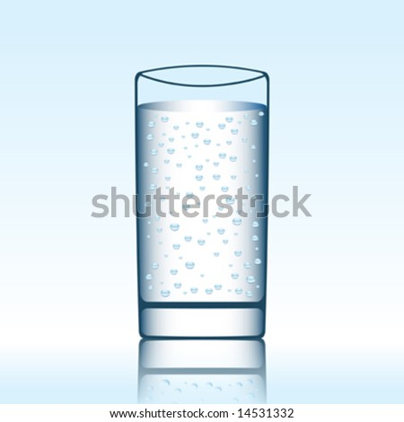 a glass of mineral water vector illustration