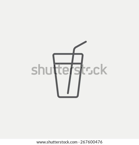 A glass with a straw icon - stock vector